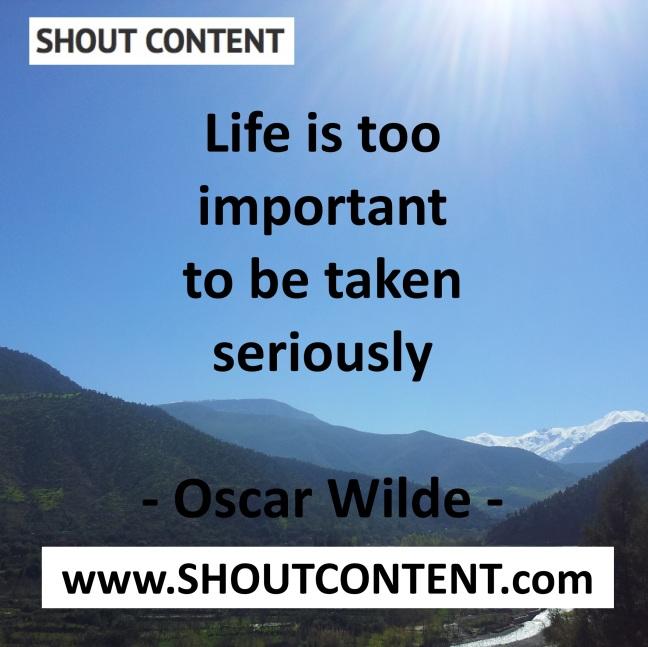 Life quote Oscar Wilde